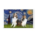 Starry / Two Shelties (D&L) Rectangle Car Magnet