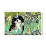 Irises / Shih Tzu #12 Rectangle Car Magnet