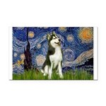 Starry Night & Husky Rectangle Car Magnet