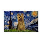 Starry Night / Silky T Rectangle Car Magnet