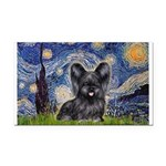 Starry / Black Skye Terrier Rectangle Car Magnet