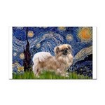 Starry / Tibetan Spaniel Rectangle Car Magnet