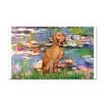 Lilies / Vizsla Rectangle Car Magnet