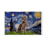 Starry / Weimaraner Rectangle Car Magnet
