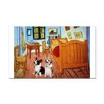 Room / Corgi pair Rectangle Car Magnet