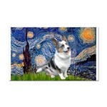 Starry Welsh Corgi (Bl.M) Rectangle Car Magnet