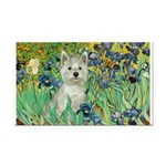 Irises / Westie Rectangle Car Magnet
