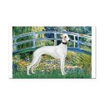 Bridge & Whippet Rectangle Car Magnet
