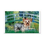 Bridge / Yorkie (T) Rectangle Car Magnet