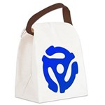 Blue 45 RPM Adapter Canvas Lunch Bag