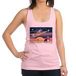 Xmas Star & Basset Racerback Tank Top