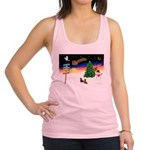 XmasSigns/2 Dachshunds Racerback Tank Top