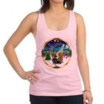 XmasMusic 3/2 Dachshunds Racerback Tank Top