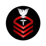 "Navy Chief Hospital Corpsman 3.5"" Button"