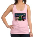 Xmas Magic & Choc Lab Racerback Tank Top