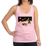 Night Flight/4 Poodles Racerback Tank Top