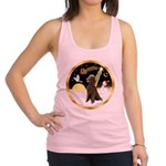 Night Flight/Poodle Std(choc) Racerback Tank Top
