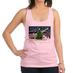 Xmas Magic & Westie Racerback Tank Top