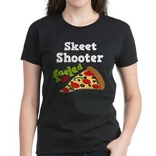 Skeet Shooter Funny Pizza Tee