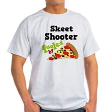 Skeet Shooter Funny Pizza T-Shirt