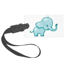 elephant turquoise png.png Luggage Tag