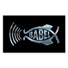 Babel Fish Rectangle Decal