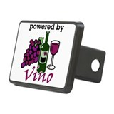 Powered By Wine Rectangular Hitch Cover