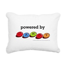 Powered By Candy Rectangular Canvas Pillow