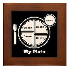 Bacon My Plate Framed Tile