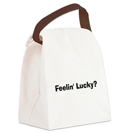 Feelin' Lucky? Canvas Lunch Bag