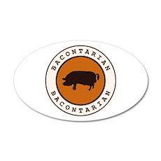 Bacontarian 38.5 x 24.5 Oval Wall Peel