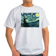Starry Night Ash Grey T-Shirt