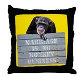 Marriage Monkey Business II Throw Pillow