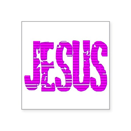 "Jesus20c.png Square Sticker 3"" x 3"""