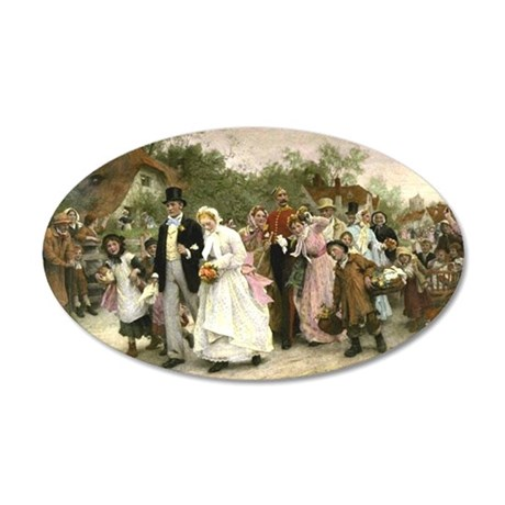 The Village Wedding by Luke Fildes 20x12 Oval Wall