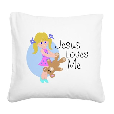 lovesme.png Square Canvas Pillow