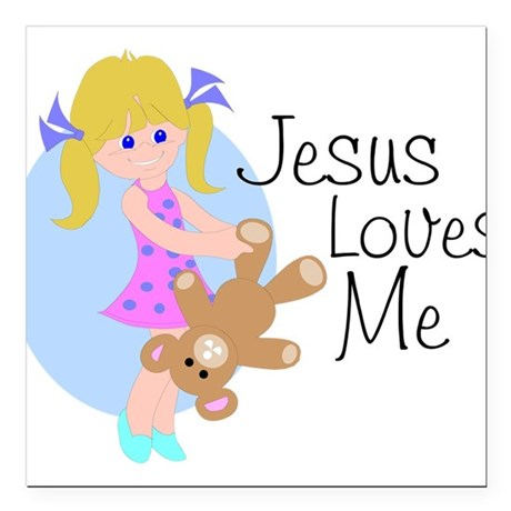 "lovesme.png Square Car Magnet 3"" x 3"""