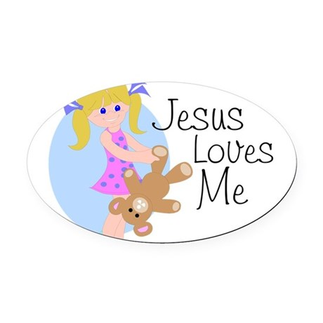 lovesme.png Oval Car Magnet