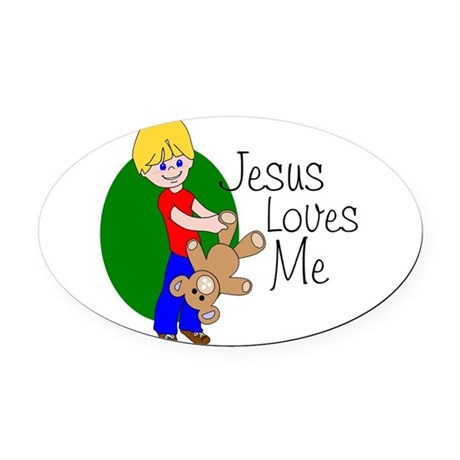 jlm.png Oval Car Magnet