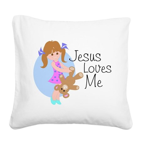 lovesmea.png Square Canvas Pillow