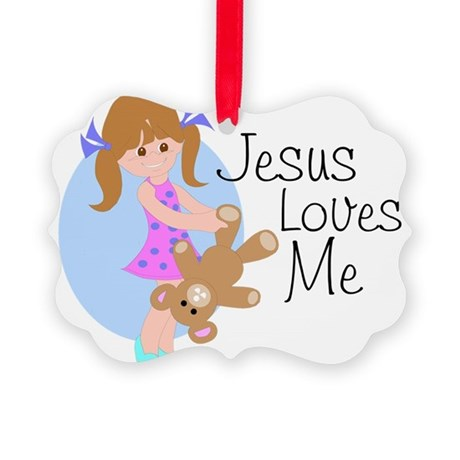 lovesmea.png Picture Ornament