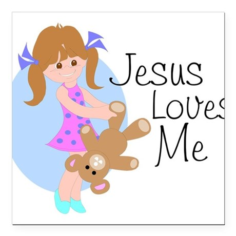 "lovesmea.png Square Car Magnet 3"" x 3"""