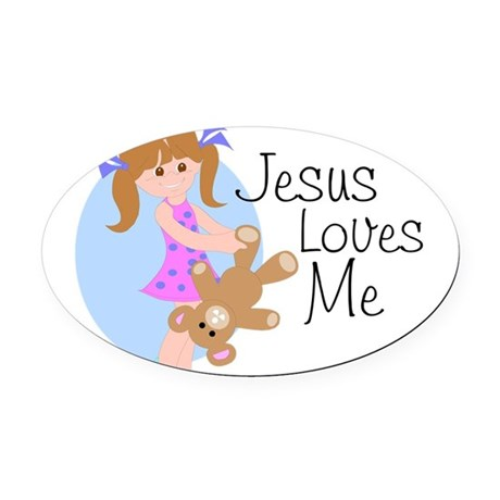 lovesmea.png Oval Car Magnet