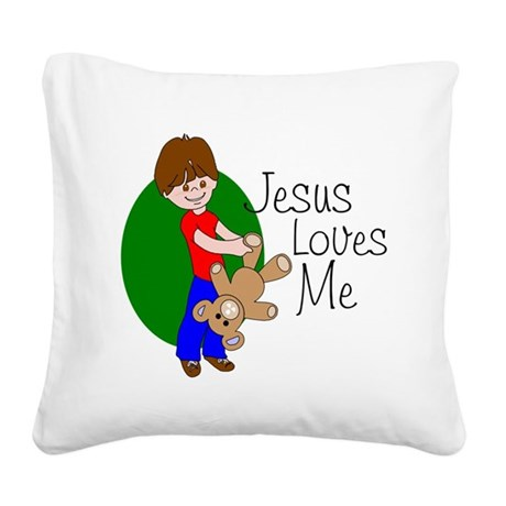 jlma.png Square Canvas Pillow
