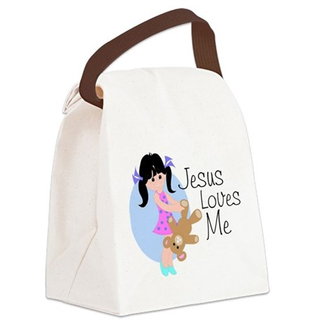 lovesmeab.png Canvas Lunch Bag