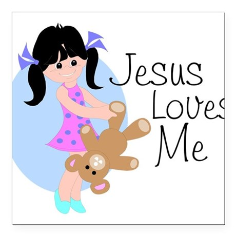 "lovesmeab.png Square Car Magnet 3"" x 3"""