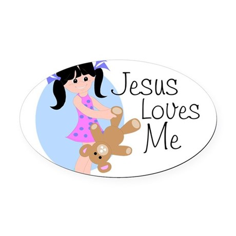 lovesmeab.png Oval Car Magnet