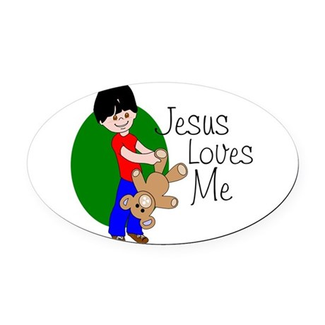 jlmab.png Oval Car Magnet