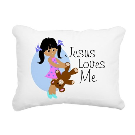 lovesmeabc.png Rectangular Canvas Pillow