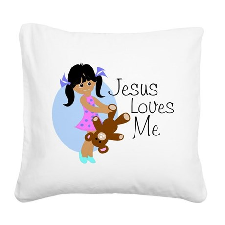 lovesmeabc.png Square Canvas Pillow
